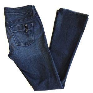 Black Orchid Indigo Skinny Flare Jeans Drizzle 28